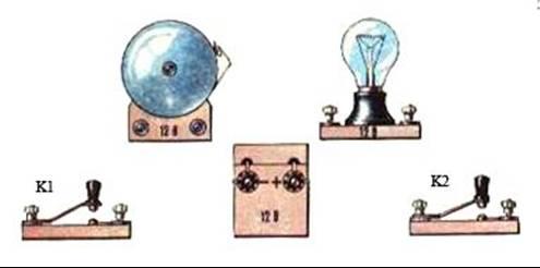 Соедините зажимы элементов электрической цепи таким образом. разных...